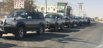 M/weyne Farmaajo iyo Wafdi uu Hugaaminayo oo Maanta u Kicitimey Dhinaca Gobolka Karkaar ee Qardho.