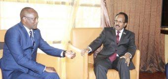 M/weyne Kuxigeenka Dalka Burundi iyo M/weynaha Soomaaliya Farmaajo oo Kulan Gaar ah Ku Yeeshey Kampala Dalka Uganda.
