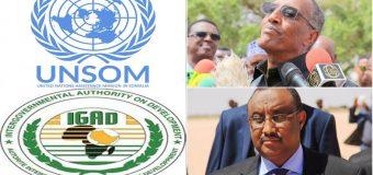 Somaliland Iyo Puntland Oo Oggolaadey Qorshaha IGAD-UNSOM Ee Xaaladda Tukaraq