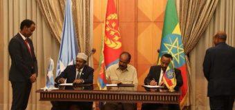 Wadamadda Itoobiya Soomaaliya iyo Eritrea oo Heshiis Afar Qodob ka  Kooban Gaarey.