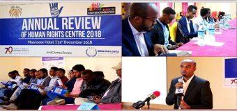 Somaliland Hay'adda Xuquuqul Insaanka oo Warbixin Dheer Kasoo Saartey Tacadiyadii La Geystey Sanadkii Dhamaadey ee 2018ka.