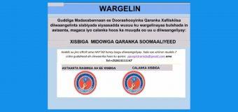 Wargelin: Xisbiga Midawga Qaranka Soomaaliyeed.