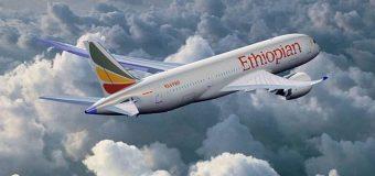 Diyaarad Laga Leeyahey Dalka Ethiopia oo Burburtey iyadoo Kusii Jeeda Dalka Kenya.
