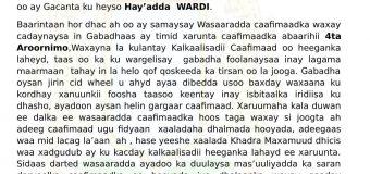 Wasaaradda Caafimaadka Oo War Ka Soo Saartay Dhacdadii Shalay Ka Dhacday Isbitaalka Wardi